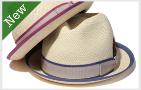 Mighty Shine Double ribbon panama hat