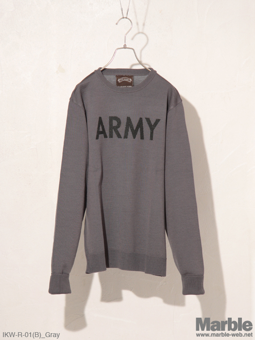 ISLAND KNIT WORKS Knit ARMY (B)