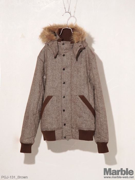 PROGRAM Tweed Hood Jacket �c�C�[�h�t�[�h�W���P�b�g