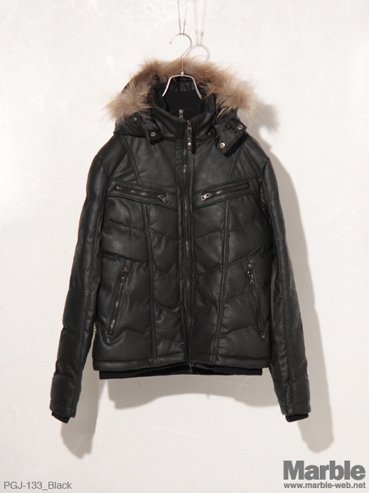 PROGRAM Fake Leather Jacket �t�F�C�N���U�[���ȃW���P�b�g