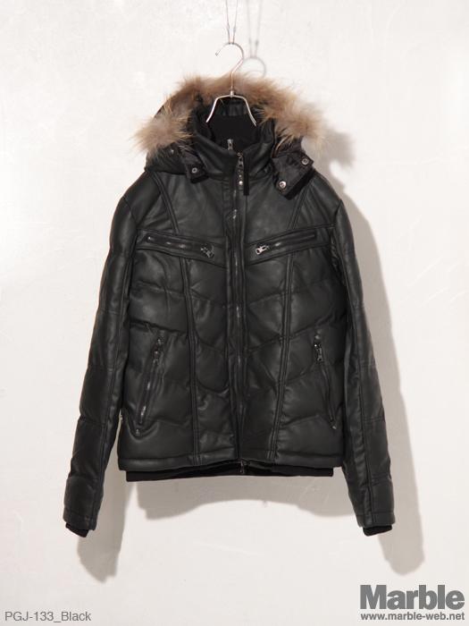 PROGRAM Fake Leather Jacket �t�F�C�N���U�[���ȃW���P�b�g