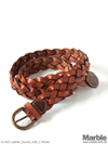 vasco Leather Woven Belt
