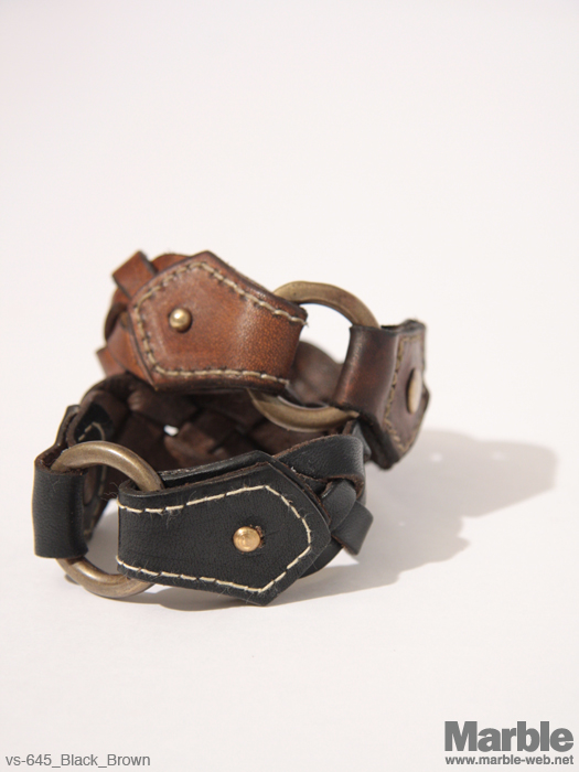 vasco Leather Woven Bracelet