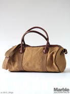 vasco Canvas�~Leather Boston Bag Small