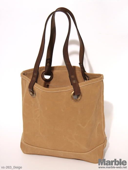 vasco Canvas�~Leather Traveler Tote Bag