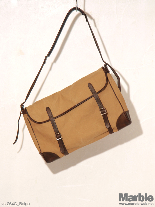 vasco Leather�~Canvas Fishing Shoulder Bag